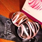 Crystal Glass Kegel Eggs closeup