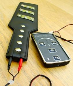 ElectroStim ElectraPaddle all connected up to ElectraStim Flick